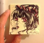 Post It note drawing  by Giname