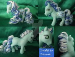 My little Pony Custom Ice Poinsettia US$19 by BerryMouse