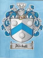 Nikell family crest by McginnisFineArts