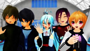[MMD x Free!] Old Times 3.: by LoverCathy