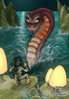 Snake on the Water by ChemaIllustration