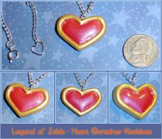 Zelda - Heart Container Charm by YellerCrakka