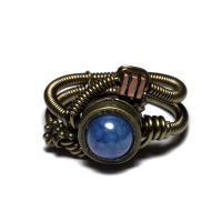 Steampunk ring blue fire Agate by CatherinetteRings