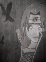 Itachi-Charcoal by queenOFcorn1994