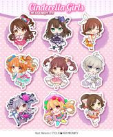 THE iDOLM@STER Cinderella Girls - acrylic keychain by Ninamo-chan