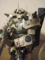 Custom weathered Zaku Sniper HG: 3 by clicker-3000