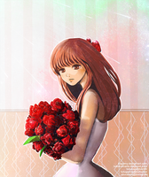 red roses by kagomy