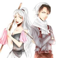 Commission : Levi and Analeia by Hana--bee