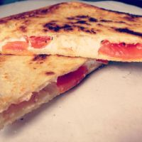 212 Goats Cheese and Tomato toastie by DistortedSmile