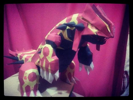groudon primal papercraft by jorgeescalante