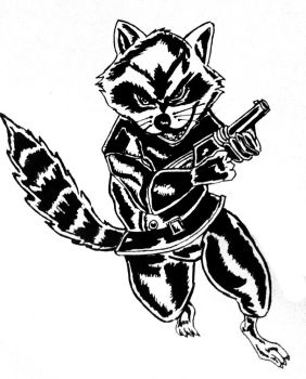 Rocket Raccoon INKED by SLVFighter