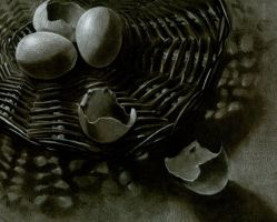 Eggs in a basket by dou-hong