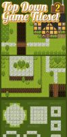 Top-Down Game Tileset 2 by pzUH