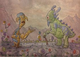 Untitled Monsters and Creatures by prolificlifeforms