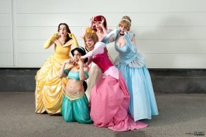 Silly Disney Princesses by NikitaCosplay
