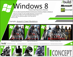 Windows 8 - Icon Concept GAMES by Crussong