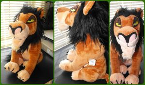 ( The Lion King ) Disney Store Scar Plush Rare by KrazyKari