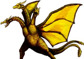 3 Headed Demon, King Ghidorah by Marioshi64