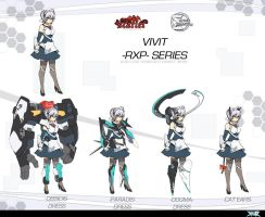 Touhou Vivid Daybreak - VIVIT-RXP re-design by Altronage
