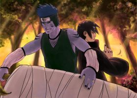 Collab: Kisame and Itachi by Faiyuuhi
