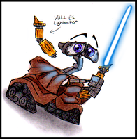 Jedi WALL.E by PurpleRAGE9205