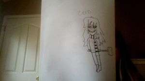 Zero from the creepypasta Zero by gabrielle44