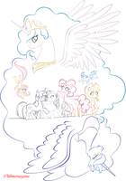 My Little Pony Lines to Color by Chibi-Narusegawa