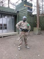 Geared up for Paintballing by KrytenMarkGen-0