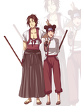 Tenten and her long lost brother by BayneezOne