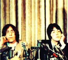 John Lennon and Paul McCartney by Fab4fnatic