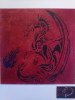 Dragon Stencil by gyrosword3