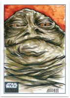 Jabba the Hutt SWG6 SketchCard by Erik-Maell