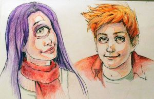 Leela and Fry by RoseAlba