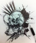 Skull and Wolf by SUED053