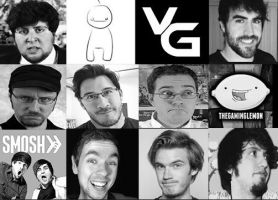 Wallpaper of Youtubers by BloodyMagic14