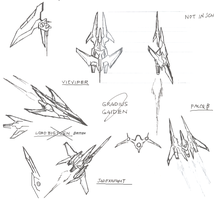 Gradius Gaiden doodle concept by myname1z4xs