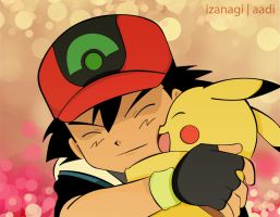 Ash And Pikachu by Iza-nagi