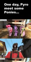 When Pyro meets Ponies and Changelings... by MeltingMan234