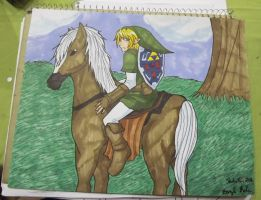 Commission: Link and Epona by kojika