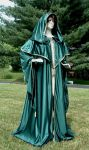 Fantasy Green Wizard's Robe by DesignsbyLadyFaire