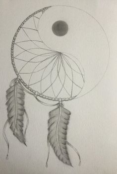 Yin yang dream catcher  by Assassin-Herzeleid