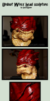 Urdnot Wrex - Head Sculpture by mortinfamiART