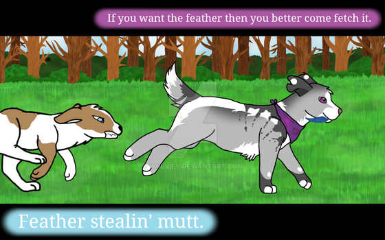Feather Stealin' by Wolviey