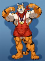 Grisser art:Tony goes for gold by Firebrand222