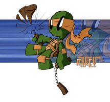 TMNT - Mikey - BainesyStyle by bainesyfellah