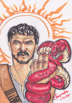 Oberyn Martell/Pedro Pascal and the Red Viper by pauscorpi