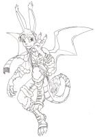 Bunny......Dragon by coyotepack