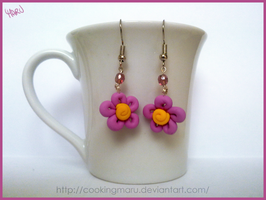 Lilac flowers earrings by CookingMaru