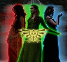 Triforce Goddesses by EssJay89