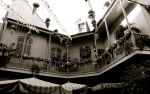 New Orleans Square B+W by cokebottleglasses